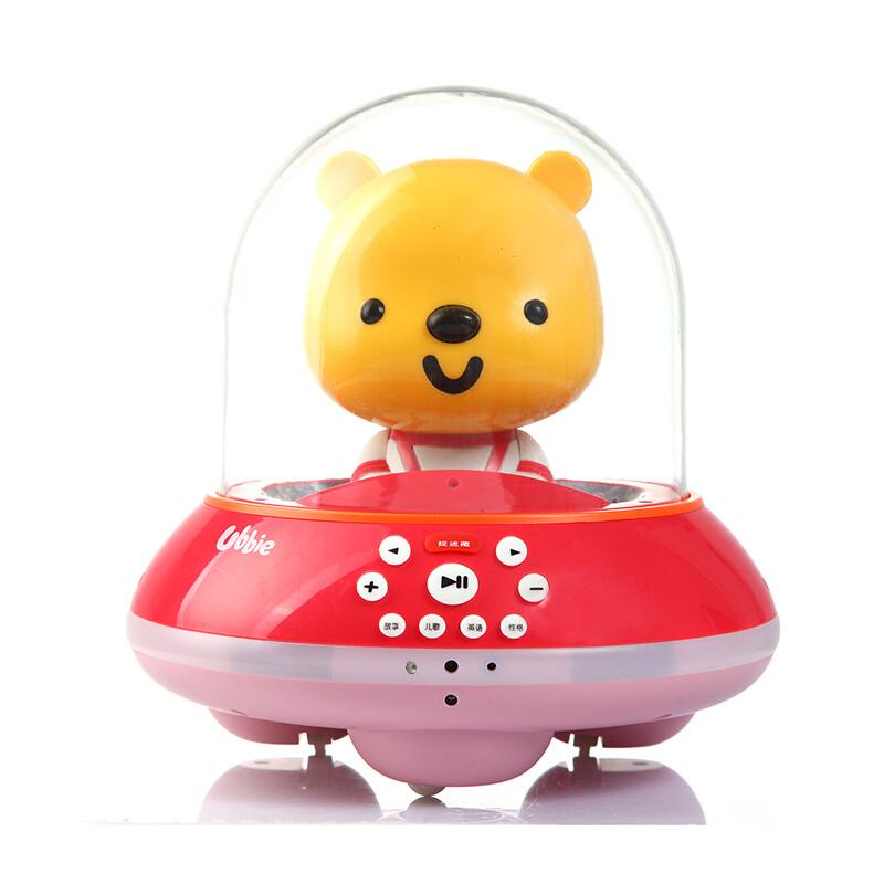 优彼(ubbie)智能启蒙益智双语学习早教机故事机会动的0-6岁儿童玩具 捉迷藏款 亲子熊四代  红色