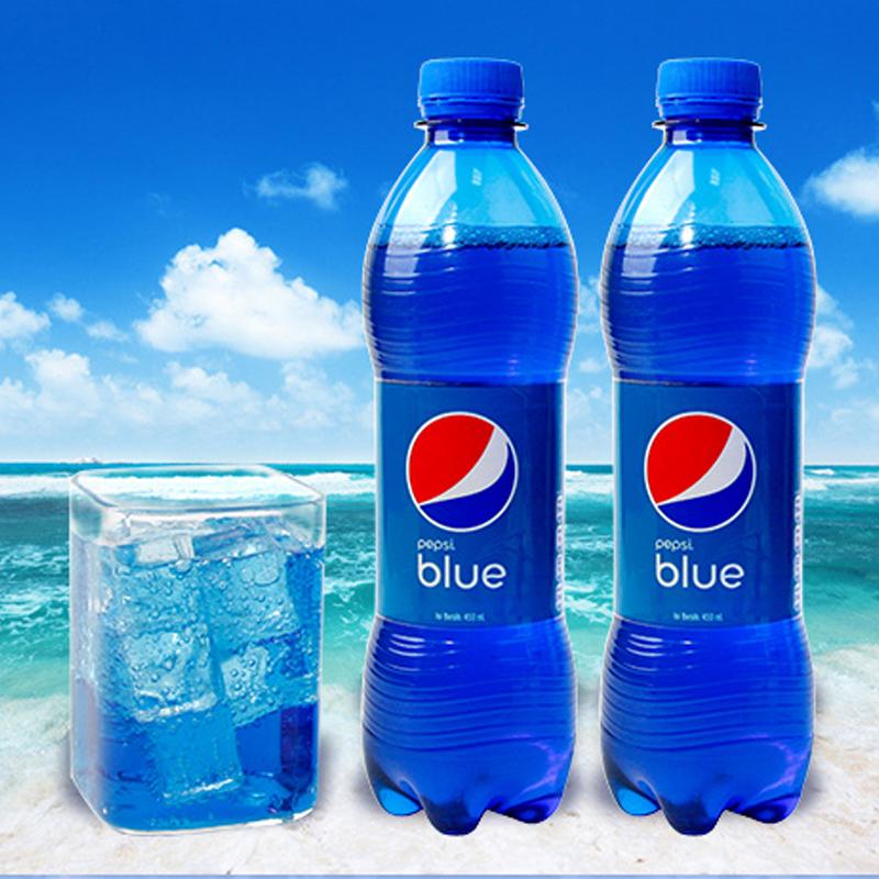 巴厘岛原装进口 百事可乐(Pepsi) blue 蓝色可乐 网红可乐汽水饮料  450ml*4瓶装