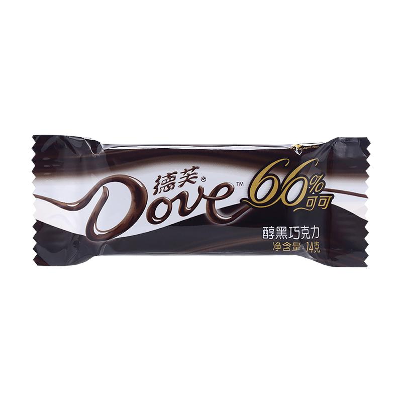 德芙Dove巧克力分享碗裝 醇黑巧克力66%糖果巧克力休閑零食252g