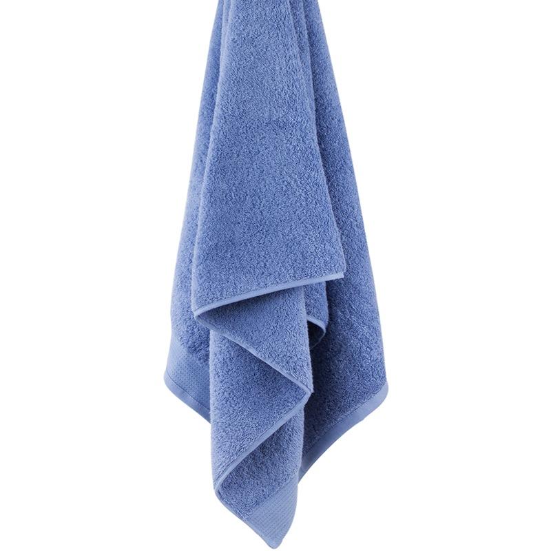 三利 A类加厚长绒棉缎边大浴巾 70×150cm 纯棉吸水 柔软舒适 带挂绳 婴儿可用 钢蓝色