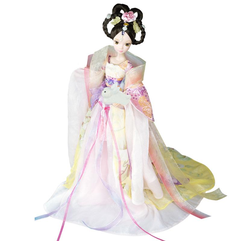 可儿娃娃(Kurhn)中国神话系列 嫦娥奔月 古装娃娃 女孩玩具生日礼物 10关节体9082