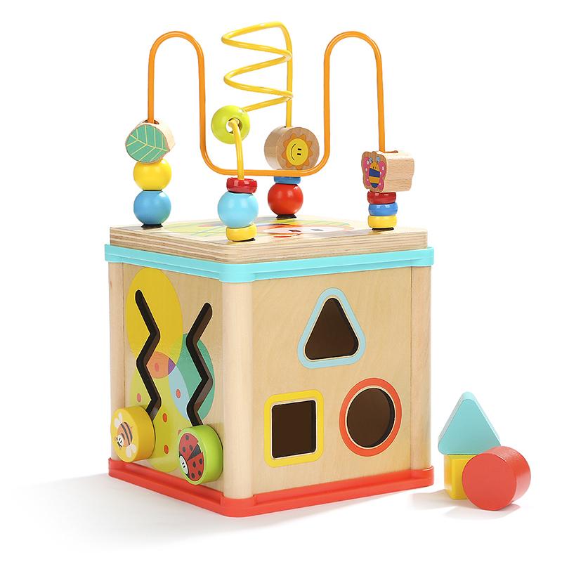 特宝儿(topbright)四面铁线 多功能百宝箱 串珠绕珠儿童益智玩具 婴幼儿宝宝早教启蒙盒装