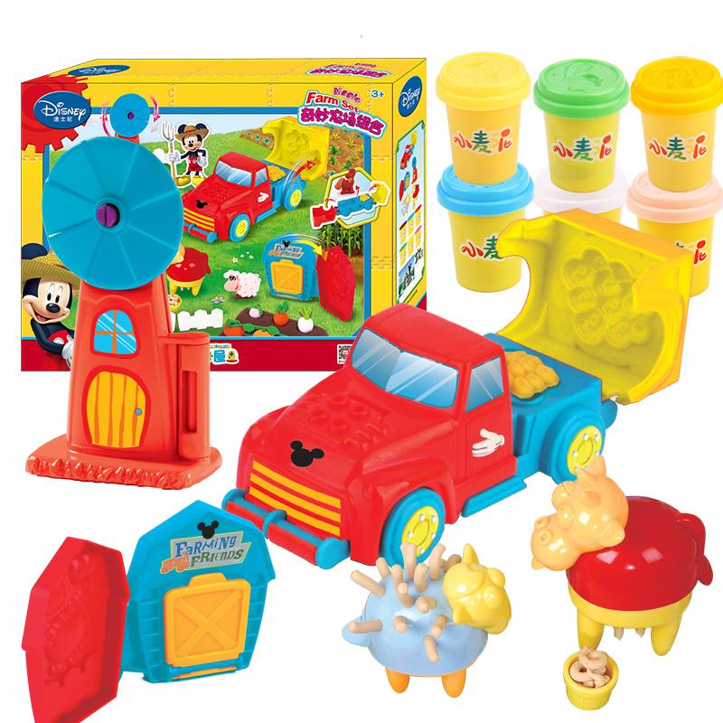迪士尼(Disney)橡皮泥米奇农场组合套装彩泥粘土DIY玩具DS-1689
