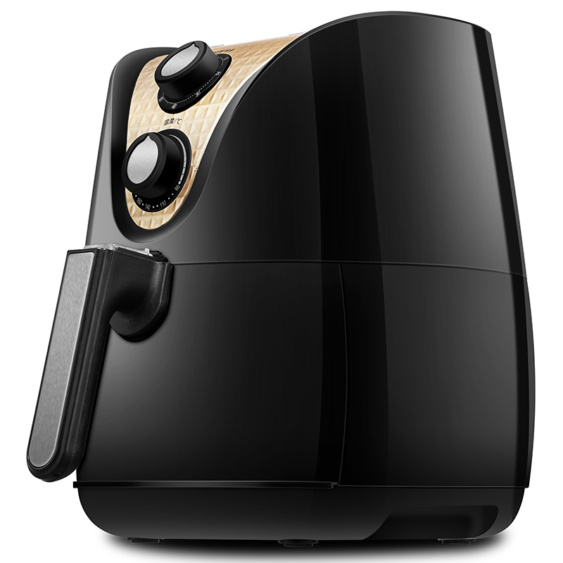 美的(Midea)空气炸锅 家用多功能无油煎炸锅 大容量薯条机 MF-TN35 黑色
