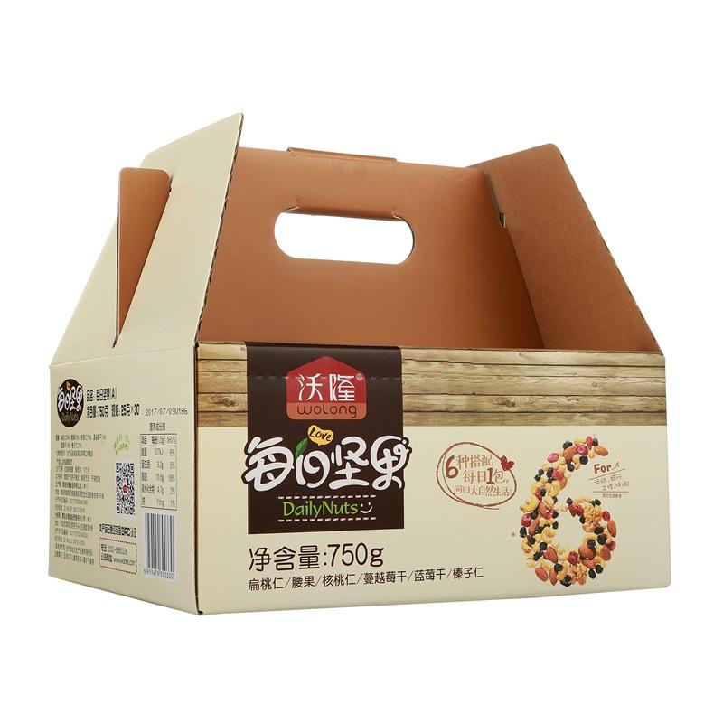 沃隆 每日坚果 休闲零食 坚果炒货 扁桃仁腰果榛子核桃 成人款(25g*30包)750g