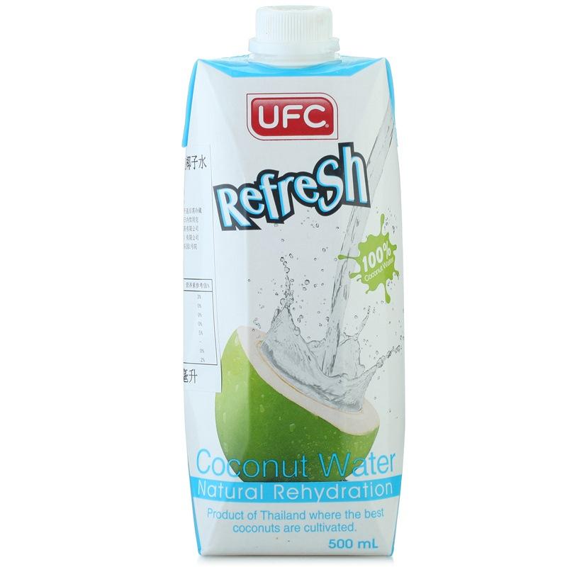 泰国原装进口 UFC 100%天然椰子水果汁饮料500ml*12瓶 整箱