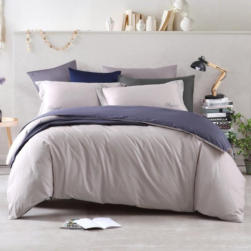 博洋家紡(BEYOND)床上用品 純棉套件 純色全棉簡約時尚床單四件套1.8米床 途 220*240cm
