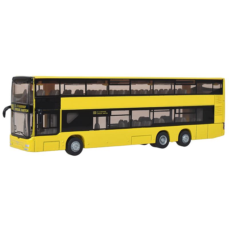 siku仕高德国品牌玩具汽车模型仿真公交车玩具巴士客车合金车模型小车-双层巴士SKUC1884