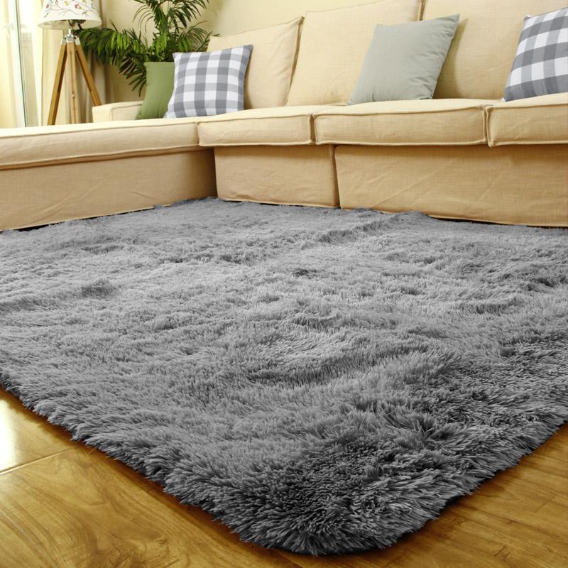 富居(FOOJO)长绒地毯客厅卧室地毯2*3米 灰色