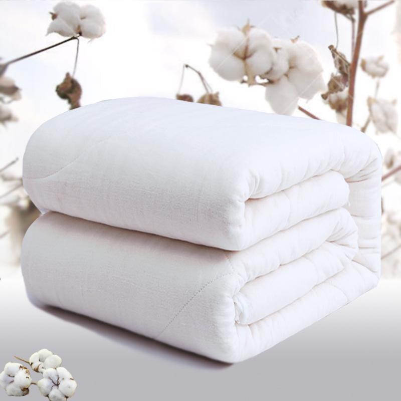 雅鹿·自由自在 被子家纺 透气棉花被子 透气春秋棉胎双人被芯 200*230cm 重量6斤 棉花被