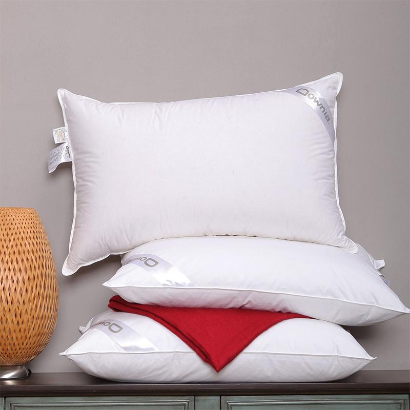 Downia 枕芯 丽思卡尔顿五星级酒店同款 90%白鹅绒枕 羽绒枕头 74*48cm