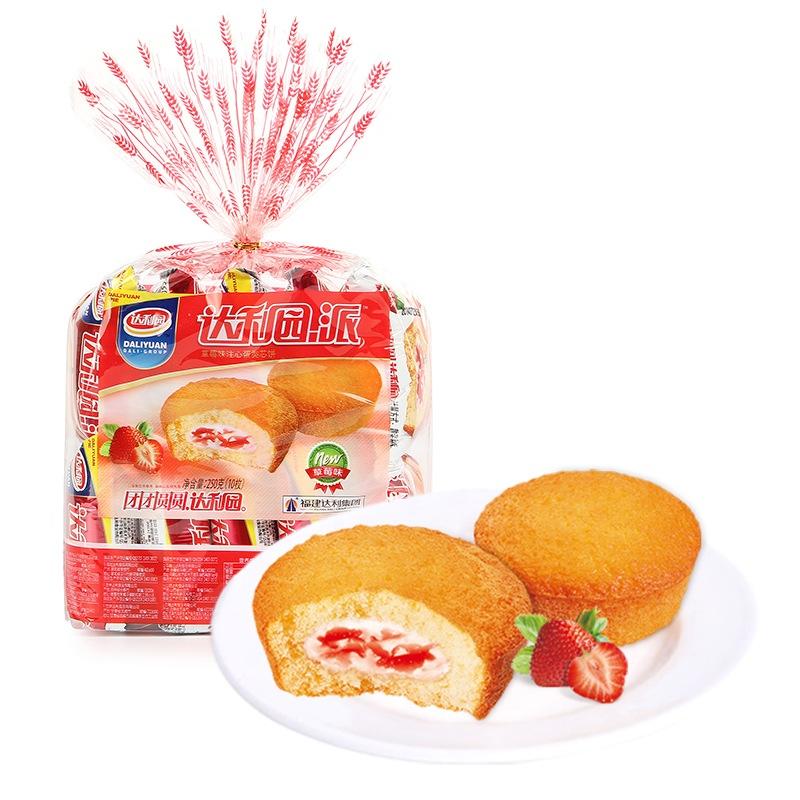 达利园注心草莓派 营养早餐零食面包饼干蛋糕 250g