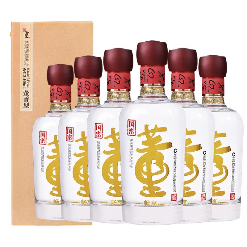 董酒暢享版 54度500ml*6瓶 整箱裝(新老包裝隨機發貨)