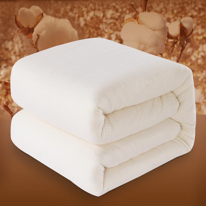 迎馨家纺 新疆棉花被 纯棉秋冬被棉被芯棉花胎 4斤单人加厚保暖被子被褥春秋被四季盖被150*200cm