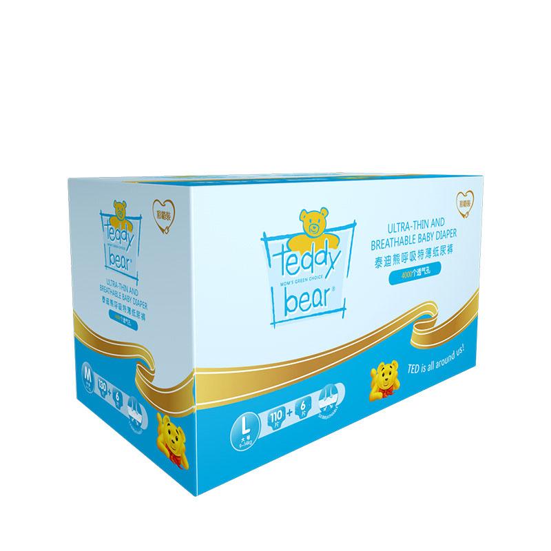 泰迪熊(Teddy Bear)超薄透气  婴儿纸尿裤 L116片【9-14公斤】