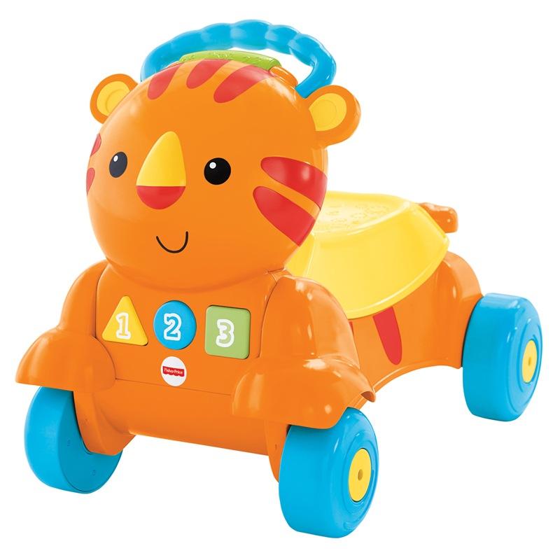费雪(Fisher Price)早教启蒙 益智玩具二合一老虎学步车(双语)CDC21