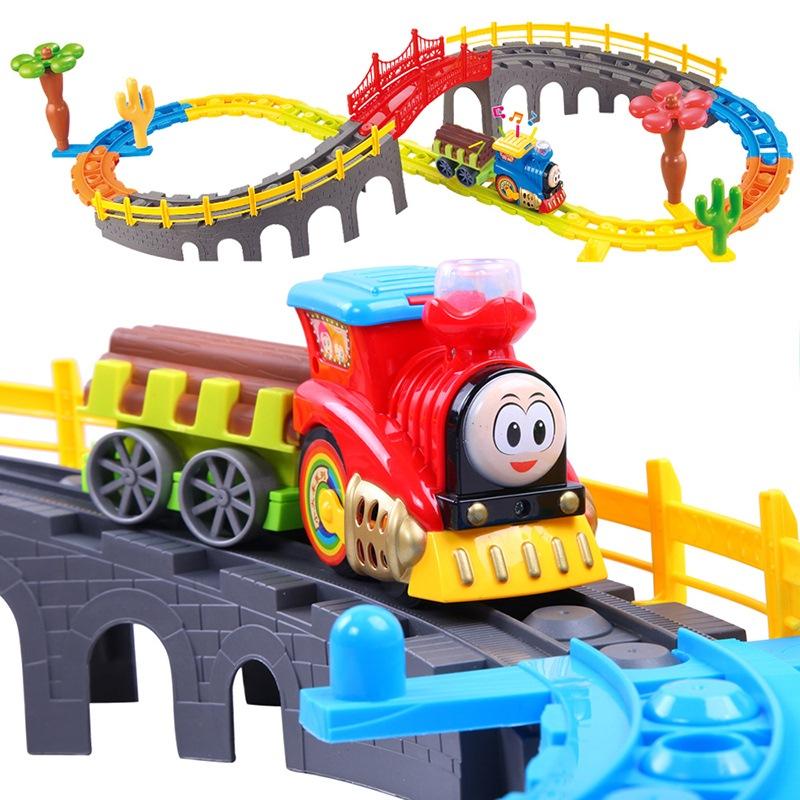 贝恩施(beiens)儿童玩具 积木益智玩具轨道火车1688组合装(新老包装随机发货)
