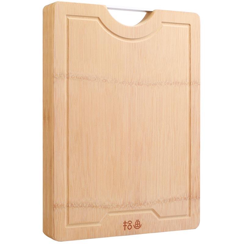 拾画 整竹砧板 3公分加厚剁骨板 切菜板 竹案板SZ-6153 (38*26*3cm)