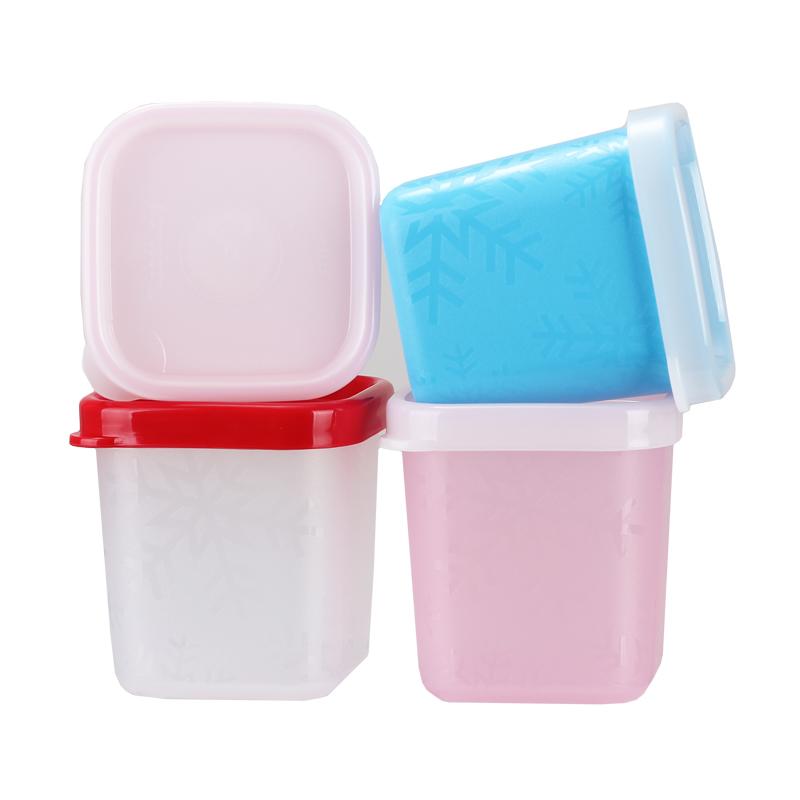特百惠(Tupperware)迷你冷藏保鲜零食储藏盒零食盒 80ml*4 颜色随机