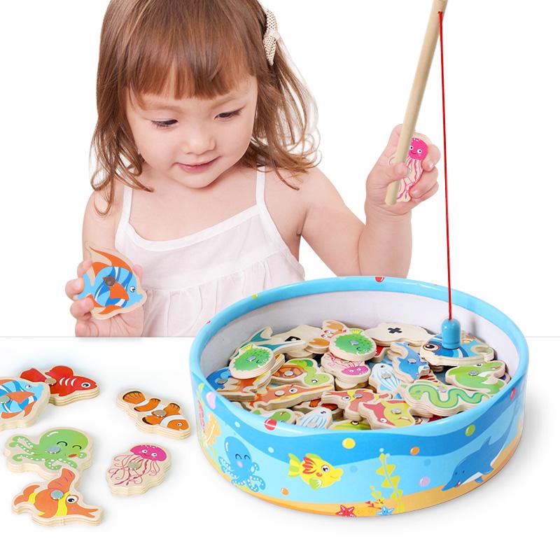 铭塔(MING TA)钓鱼游戏 益智玩具早教启蒙 婴幼儿童男女孩?#30333;?#29609;具