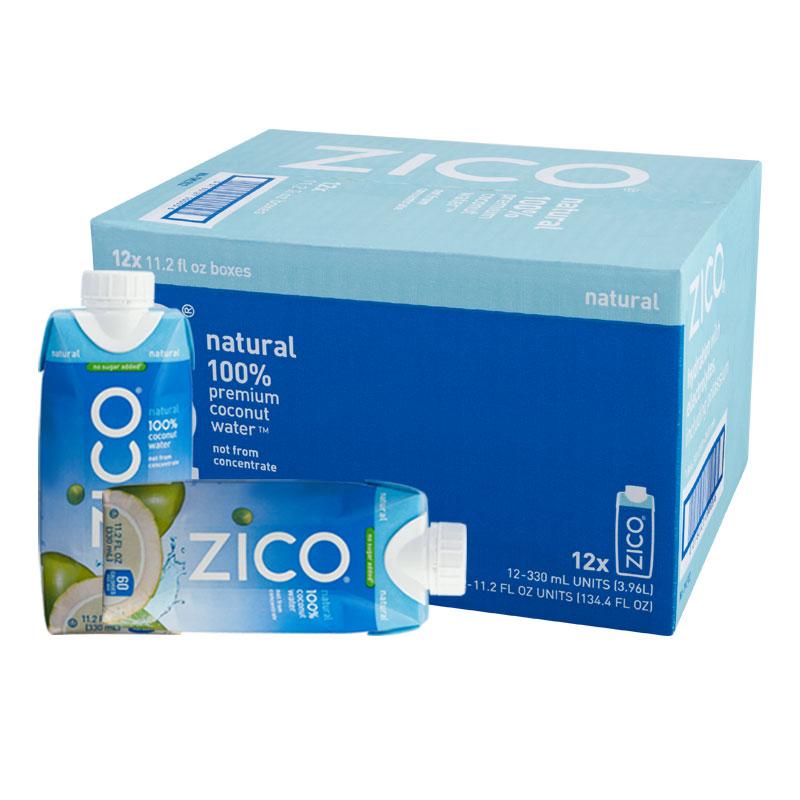 泰国进口 Zico 100%天然椰子水饮料 330ml*12 整箱 可口可乐官方进口