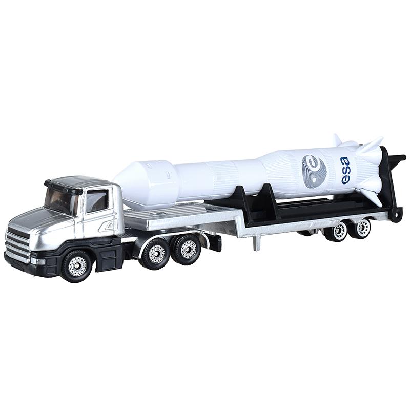 siku 汽车儿童玩具车模型车模 货车卡车带火箭模型 合金小汽车玩具男孩-平板拖车带火箭1614