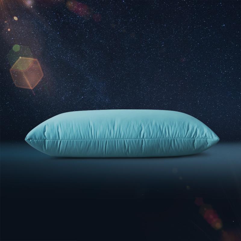 格兰贝恩(Globon)枕芯枕头 五星级酒店颈椎枕头芯 羽绒枕鹅毛 松石绿中枕 填充1000g